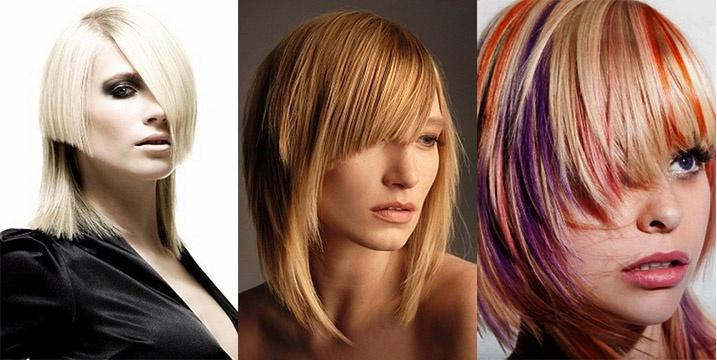 Круговая стрижка на средние волосы